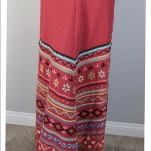 DOUBLE D RANCH Embroidered Sweater Long Maxi Skirt